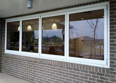 Bi-Fold Servery Window - Outside View